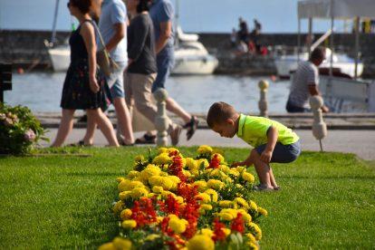 На пристанището в Охрид